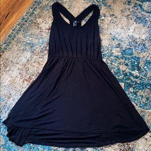 Black flowy tank dress